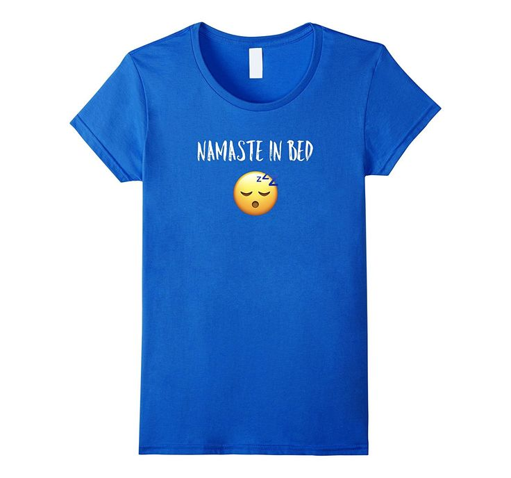 Funny Sleep Emoji - Namaste in bed T-shirt