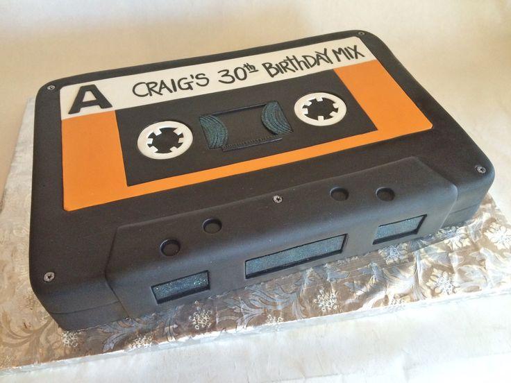 Birthday Cake | Custom Cake | Cassette | Mix Tape | 30th Birthday | Fondant | Baked Custom Cakes