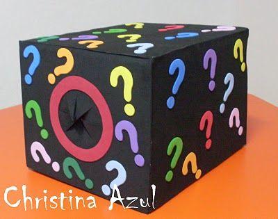Azul Christina: Caja de cartón