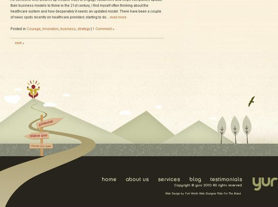 cute idea for a website footer