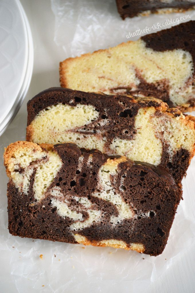 Gluten Free Marble Pound Cake Recipe from What The Fork Food Blog {This looks amazing!}