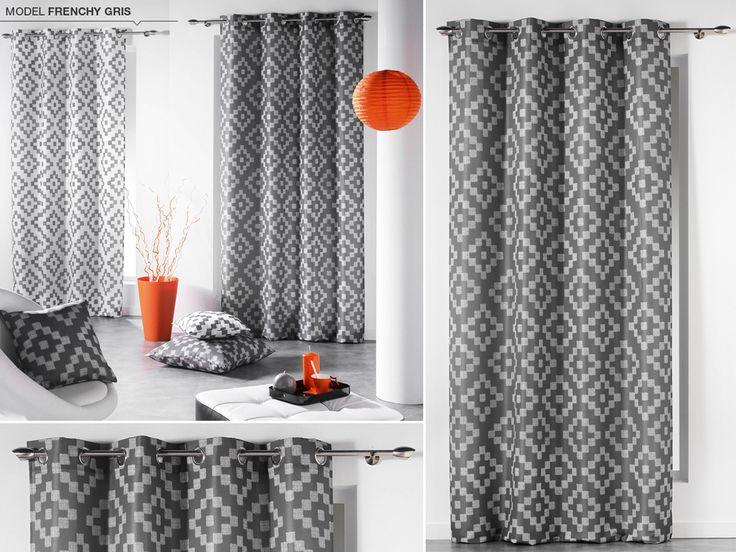 Štýlové škandinávske závesy tmavo sivej farby s motívom