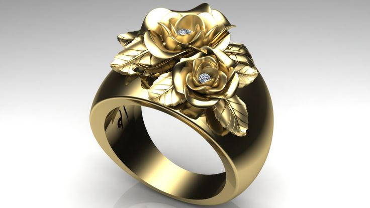 Ring 14 ct gold with realistic roses... My own favourite ring I'm wearing it every day