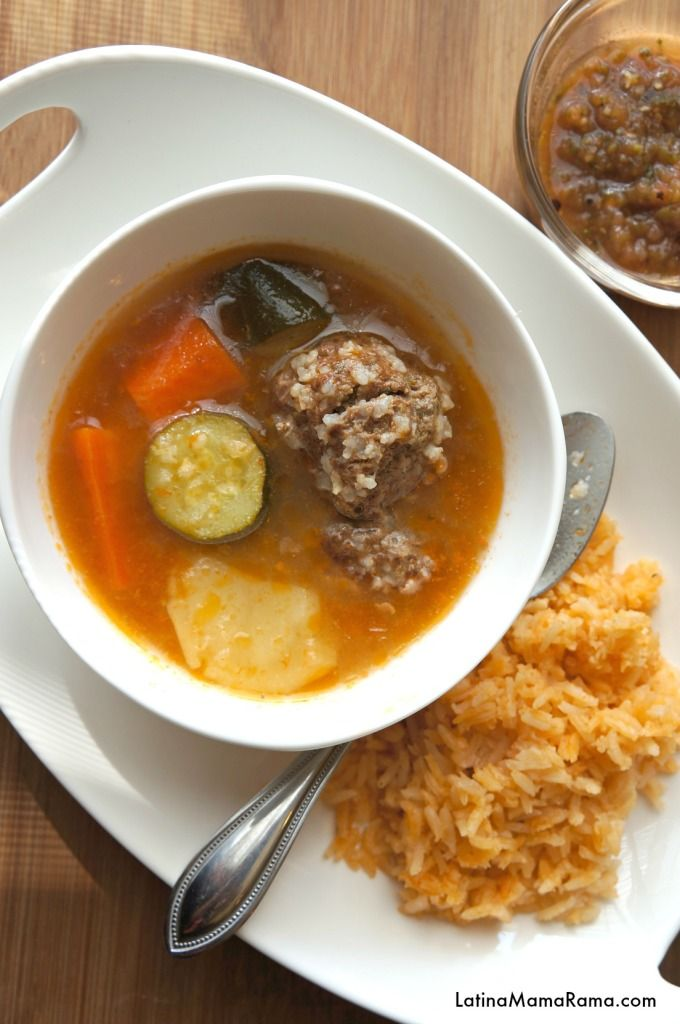 Albondigas Soup Recipe- This a top 10 of my mexican food favorites.  #mexicanfood #soups