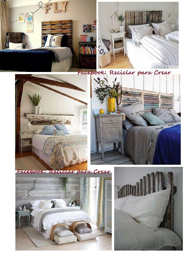 Respaldos de cama con palletes naturaleza y reciclado - Ideas con pallets ...