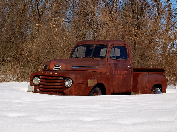 Old Ford Truck in the Winter.