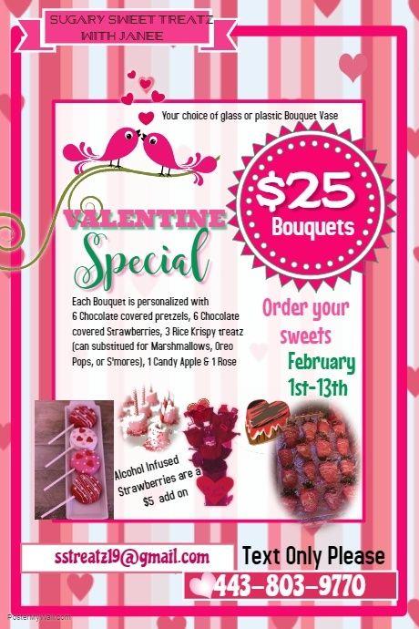 Copy of Valentine Cupcake Sale Poster Template   Baltimore