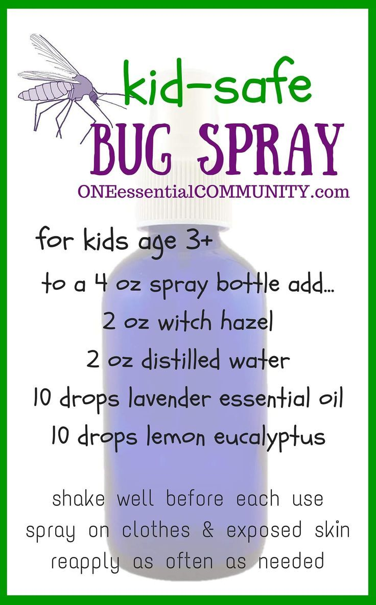 This kids-safe bug spray uses essential oils to keep bugs away and it's DEET-FREE!! It's made with lemon eucalyptus essential oil, which the CDC (Center for Disease Control) recommends as an effective mosquito repellent.