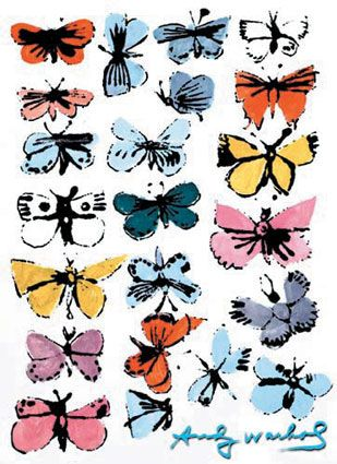 """Warhol's early graphic design.  Also known as """"butterflies""""!"""