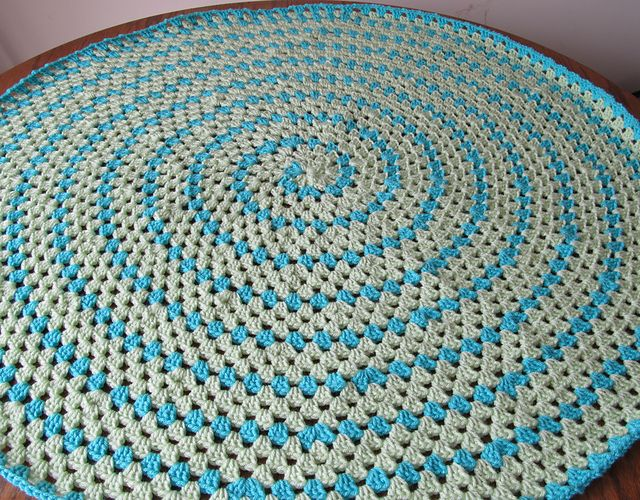 Spiral Round Granny Blanket Pattern By Donna Mason Svara
