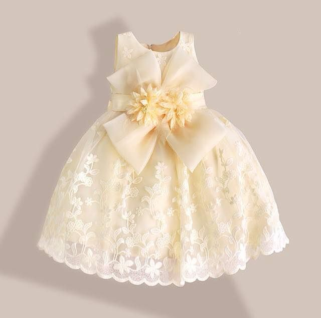 white dress for a baby girl