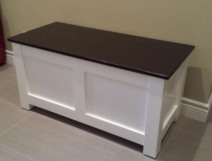 Diy Foyer Storage : Homemade entryway storage bench