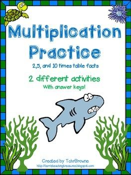 FREE Multiplication Practice Activities - 2,5,10 times tables