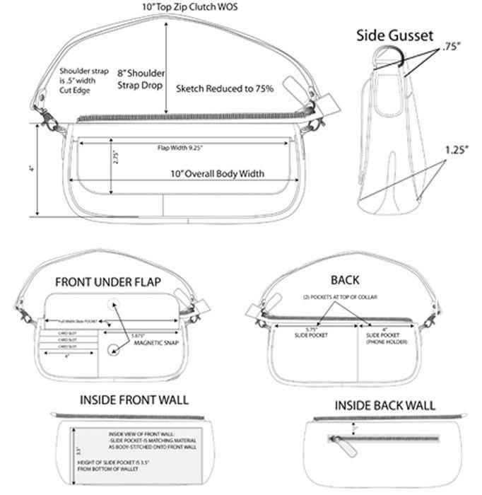 Mini bag construction sketch- by Laura McQuay at Coroflot.com