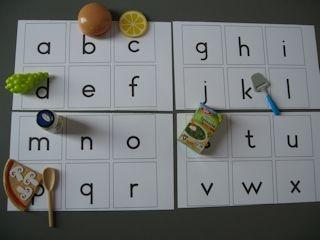 Lessuggesties met de mini's van Albert Heijn, beginklank met letters.