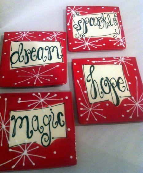 Coasters with Dream. Magic. Sparkle. Hope.