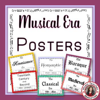 Music Lessons  |  Music  education  Musical Eras Posters: Music History Time Periods   #musiceducation     #musiced