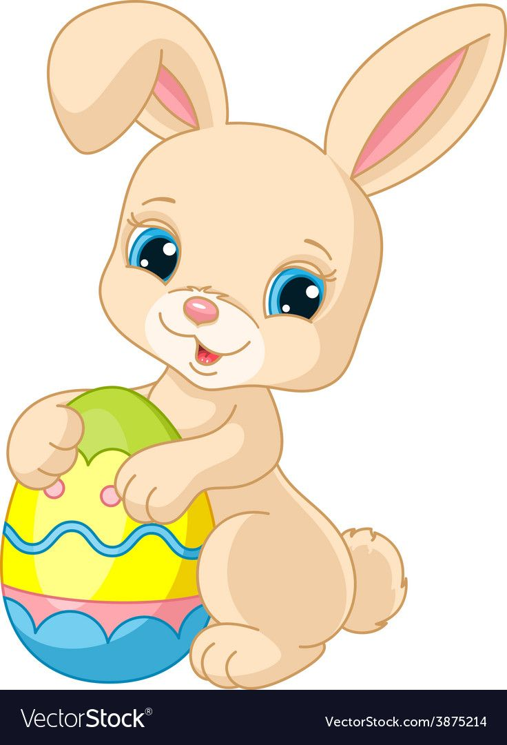 Vector Illustration Of Cute Easter Bunny Holding Easter Egg Download A Free Preview Or High Quality Adobe Illu Easter Bunny Cute Easter Bunny Easter Paintings