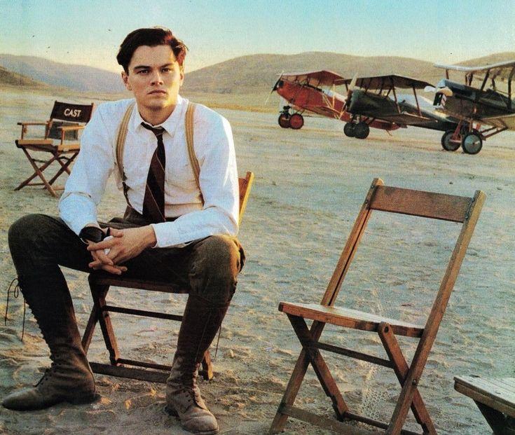 Leonardo DiCaprio on the set of The Aviator (2004).