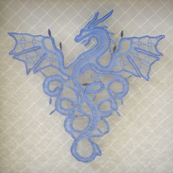 Amaizing Bobbin Lace Dragon. Anyone know where to find the pricking?: