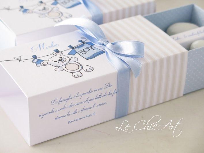 scatola porta confetti nascita