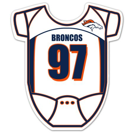Denver Broncos Onesie Baby Shower Invitations