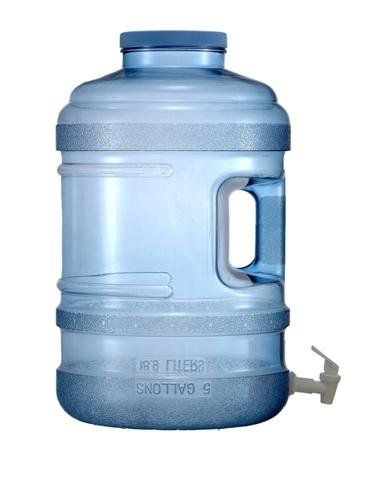 High-tech 5 gallon water jug. Handle, spigot, screw lid - I dare you to try to invent a better water jug!