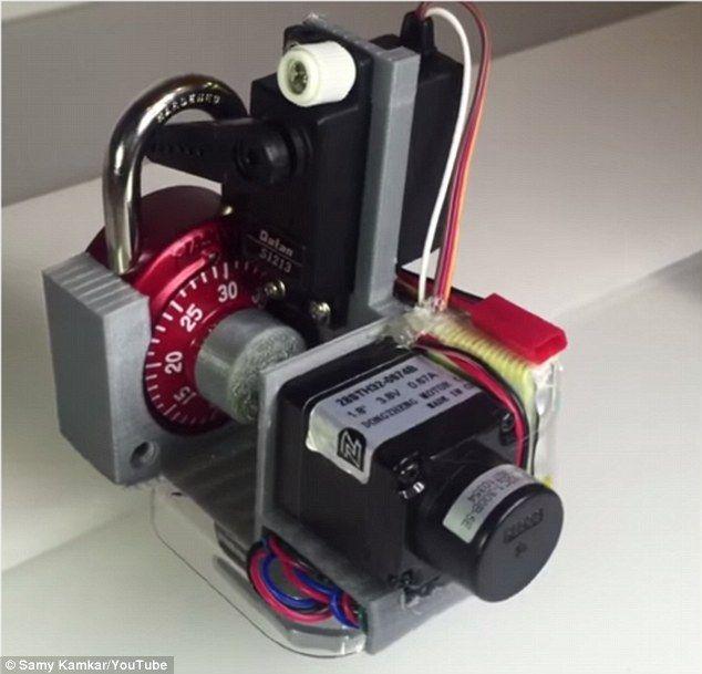 Hacker 3D prints gadget that can crack a combination lock in 30 SECONDS | http://samy.pl/combobreaker/