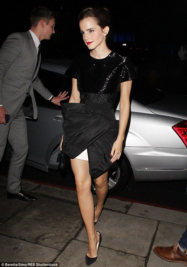 Emma Waston, 25, showcase her toned legs at the Emma Watson Elle Style Awards in February 2014