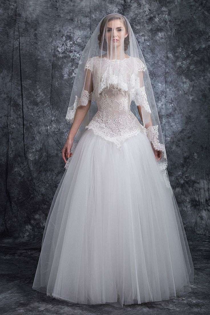 ❤ rochia de mireasa Iudith ❤    O rochie de mireasa absolut uluitoare. Spatele gol si fusta ampla in nuante de alb si ivory, au un croi elegant, care pune in valoarea fiecare silueta. Aceasta este realizata din voaluri vaporoase si dantela guipure. #rochie #mireasa #nunta #weddingdress #bridetobe #bride #gown #white #rochiedemireasa #rochiemireasa #rochiedemireasa Casa Vogue Mariage