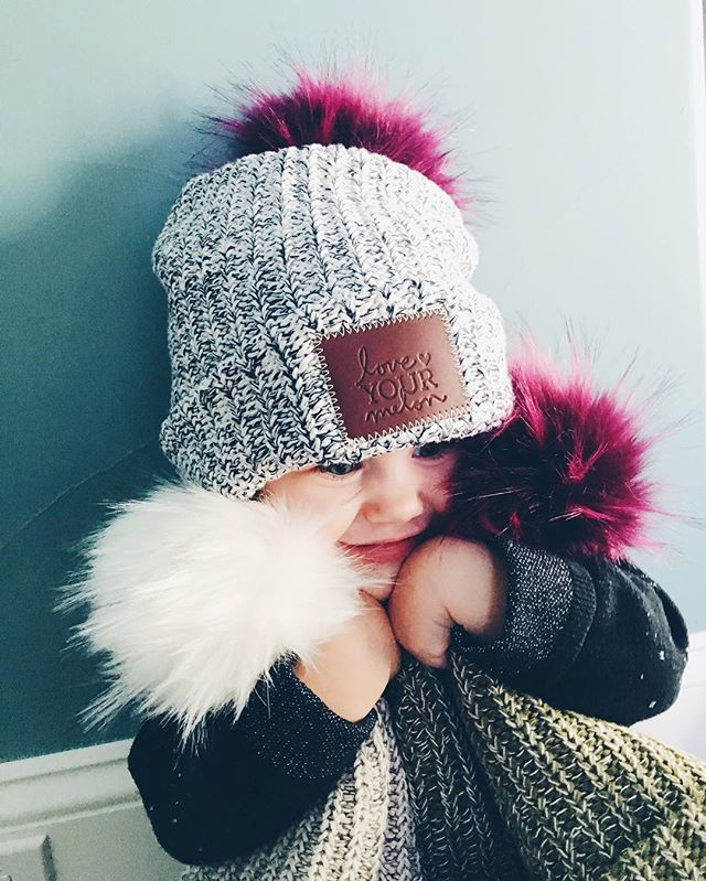 They're so fluffy!!   Love Your Melon Pom Beanies available on our website, link in bio!