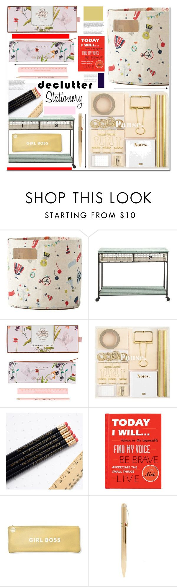 """Decutter Stationery"" by sweta-gupta ❤ liked on Polyvore featuring interior, interiors, interior design, home, home decor, interior decorating, Petit Pehr, Benzara, Wild & Wolf and C.R. Gibson"