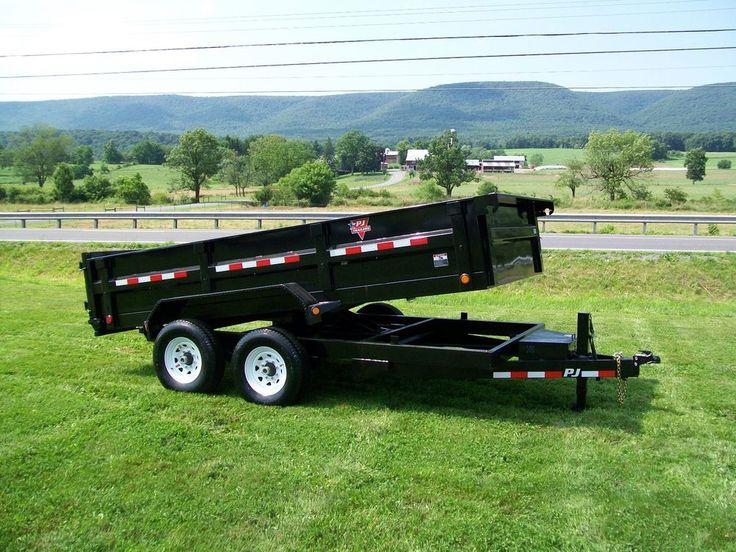 2014 PJ 14' dump trailer, 14000 GVW, scissor lift, 10K HD