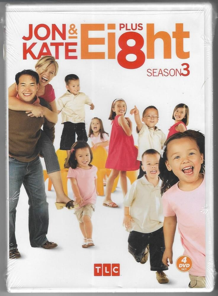 Jon Kate plus Eight (8) - Season 3 - DVD, 2009, 4-Disc Set - NEW