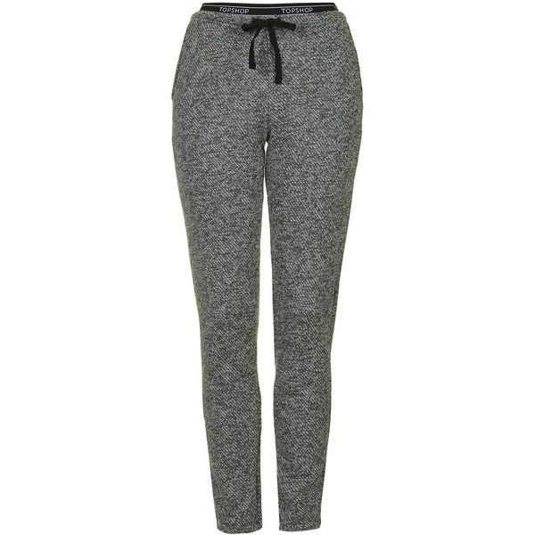 TopShop Sporty Loungewear Jogger ($34) ❤ liked on Polyvore featuring activewear, activewear pants, pants, grey and topshop