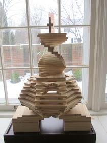 """Dit is werkelijk een heel hoge en toffe """"kaplablokjes-toren"""" !!!!"""