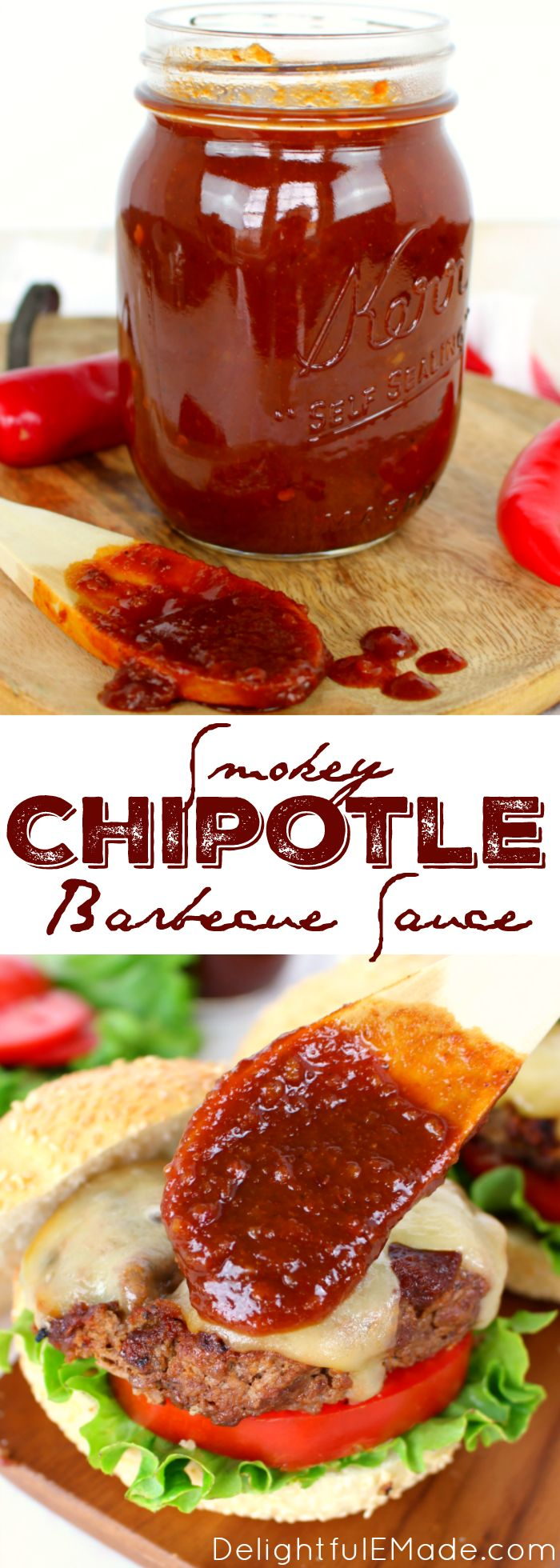 The perfect recipe for smokey, spicy & sweet barbecue sauce!  Fantastic for burgers, chicken, pork chops and ribs, this simple BBQ sauce will be your new go-to recipe for grilling season! == I HAVE TO TRY THIS, WOW SOUNDS DELICIOUS :)  ===