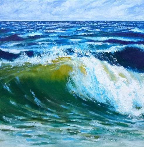 "Daily Paintworks - ""Cape Cod Roller"" - Original Fine Art for Sale - © Jill Bates"