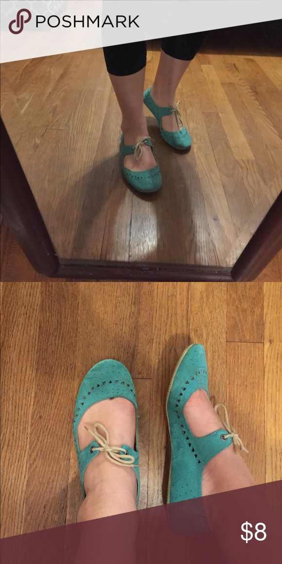 Teal flats Super cute mary-jane teal flats. Make an offer! :) Shoes Flats & Loafers