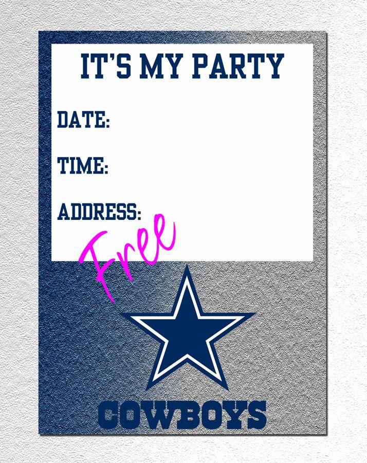 Cowboy Invitations Template Free New Dallas Cowboy Invitation Free Pdf Downl Cowboy Invitations Dallas Cowboys Birthday Party Cowboy Birthday Party Invitations