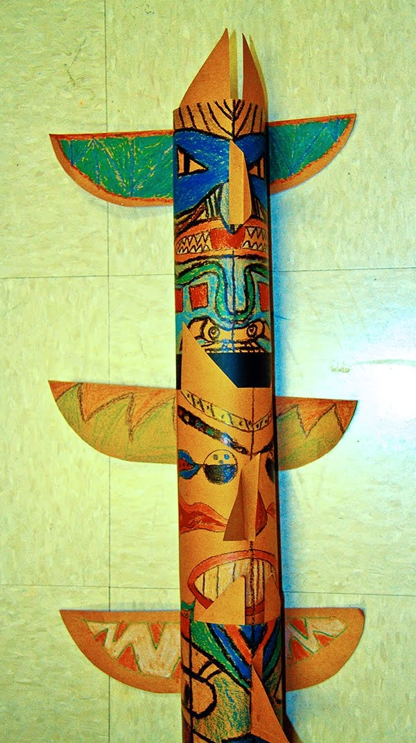 108 best totem puzzles peace poles images on pinterest for Crafts made out of paper towel rolls