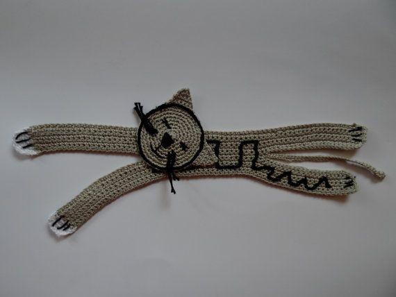 Handmade crochet Bookmarks  Gray cat by El2studio on Etsy, €12.00