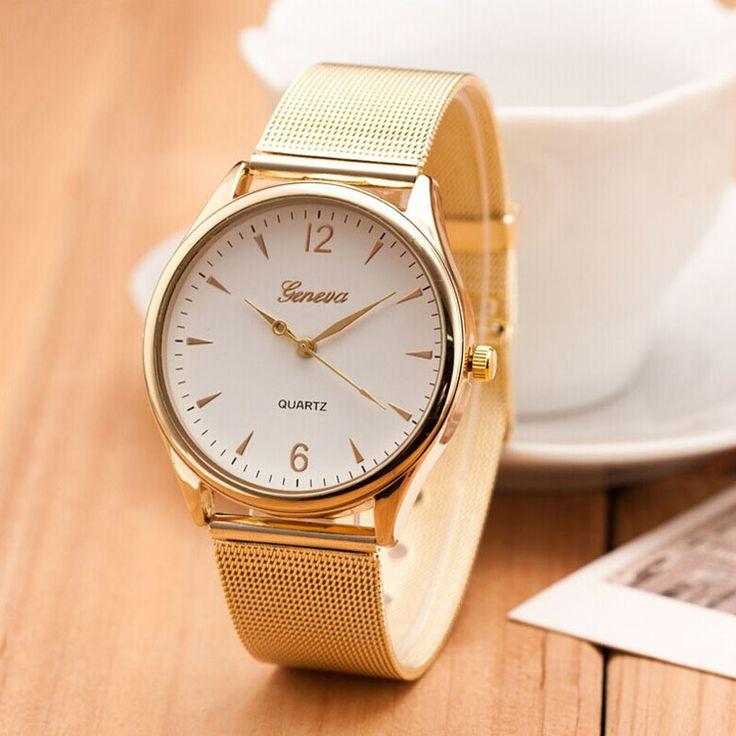 2017 New Famous Brand Silver Casual Geneva Quartz Watch Women Mesh Stainless Steel Dress Women Watches Relogio Feminino Clock