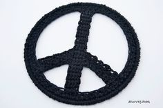 Crochet Peace Sign free pattern by Snovej