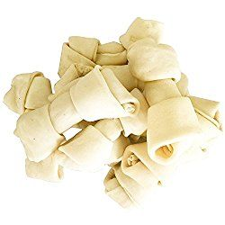 """Rawhide Bones Dog Treats (4"""" – 5"""") – Natural Beef Rawhide Chews, 10-Count Bag by Pet Magasin"""