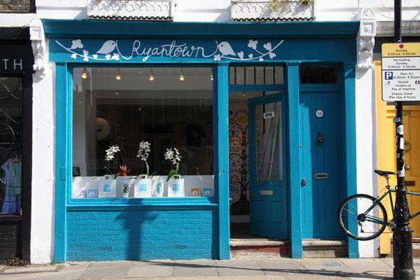 Ryantown Store. Rob Ryan Art.: Stores Front, The Doors, Art Work Shops, London, I Heart Rob Ryan, Robryan, Flowers Marketing, Exterior Colors, Ryan Shops