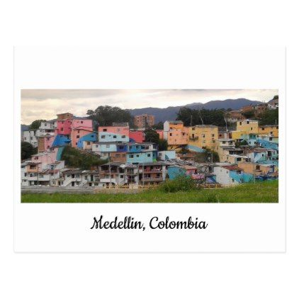 Posted of El Pesebre mural Medellin Colombia Postcard - postcard post card postcards unique diy cyo customize personalize