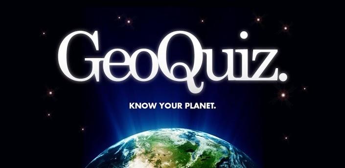 GeoQuiz. Aplicación de atractiva interfaz para probar tus conocimientos sobre Geografía.