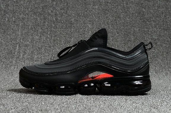 6ca6404982 New 2018 Nike Air Max 97 VaporMax KPU Zipper Triple Black | shoes ...