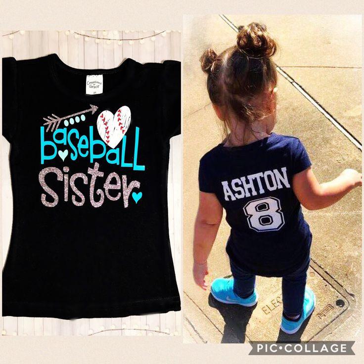 Baseball Sister shirt , baseball sister , baseball mom https://www.etsy.com/listing/502868094/baseball-shirt-baseball-sister-baseball #baseballsister #baseballmom